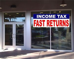 Income Tax Return Banner Business Advertising Tax Season