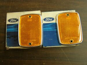 Nos Oem Ford 1967 Bronco Truck F100 Grille Reflectors Pair Pickup 1968 1969