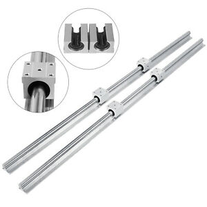 Sbr 20 1200mm Linear Slide Guide Shaft 2 Rail 4sbr20uu Bearing Block Cnc Set