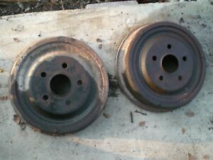 61 62 63 Thunderbird 66 67 68 Mustang Ford 9 Inch Rear Brake Drums Pair