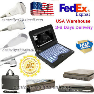 Usa Portable Laptop Machine Digital Ultrasound Scanner 3 Probes Cms600p2 ce