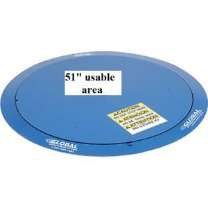 New Best Value Pallet Carousel Skid Turntable 4000 Lb Cap 51 Usable Dia