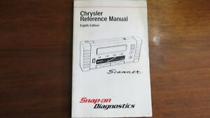 Snap On Scanner Chrysler Reference Manual Eighth Edition