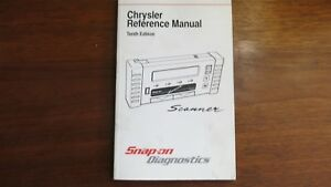 Snap On Scanner Chrysler Reference Manual Tenth Edition