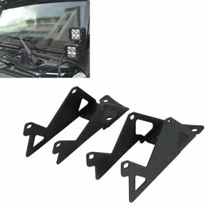 07 16 Jeep Wrangler Jk Windshield Mounting Bracket Metal For Led Light Fog Light