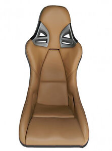 Real Carbon Sport Seat For Porsche 911 997 Gt2 Gt3 Optics Leather Sand Beige