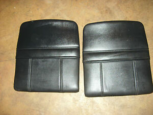 91 92 93 94 95 Acura Legend 4dr Black Leather Rear Seat Cover S Panel Pocket L
