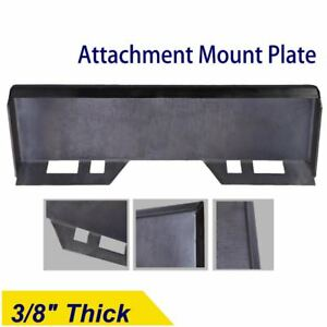 3 8 Quick Tach Attachment Mount Plate Skidsteer Bobcat Kubota Skid Steer 38 Mp