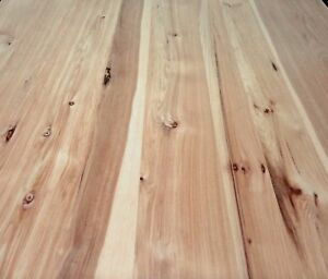 Rustic Planked Knotty Hickory pecan Wood Veneer 24 X 48 On Paper Backer