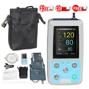 24 Hours Ambulatory Blood Pressure Monitor Holter 3 Cuffs Software us Seller