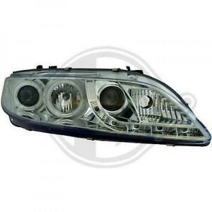 Ccfl Angel Eye Headlights With Led Drl Lights For Mazda 6 02 08 In Clear Chrome