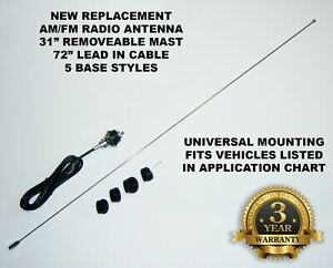 Universal Base Mounting Brand New Old Stock Replacement Am Fm Radio Antenna