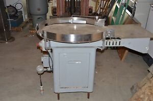 36 Stainless Steel Sorting Turntable With Dayton 1 2 Hp Motor 1ph Tested