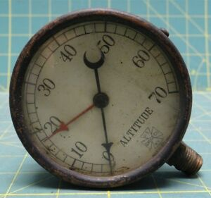 Rare 1906 3 Us Gauge Co New York Altitude Gauge Industrial Steampunk