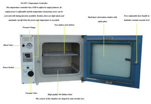 110v 1 9cu Ft Vacuum Drying Oven Up To 250 c Size 16x14x14 For Lab