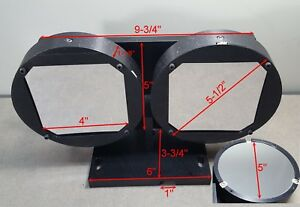 Set Of 2 Optical 5 Czemy turner Mirrors 1702 1704 With Adjustable Mounts