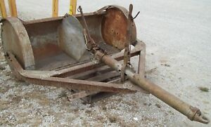 Antique Tumblebug Dirt Scraper 74 Wide Edge 1070 Lbs Horse Or Tractor Drawn