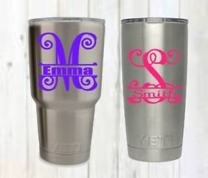 Personalized Monogram Decal B 3inchx3inch Perfect For Yeti Cup