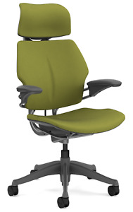Humanscale Freedom F211 Sage Green Wave Fabric Titanium Frame Office Desk Chair