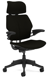 Humanscale Freedom F213 Black Wave Fabric Advanced Duron Arms Office Desk Chair