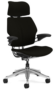 Humanscale Freedom F213 Aluminum Advanced Duron Arms Office Desk Chair Black
