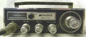 Midland 13 867 23 Channel Cb Radio Compact Coiled Microphone Cord No Res