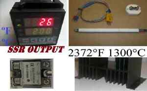 Pid Temperature Controller Kiln Probe Ssr Relay Hs 80a Paragon Pottery Glass F c