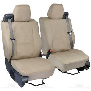 Front Pair Tan Beige Cloth Custom Seat Covers For Ford F 150 2004 08