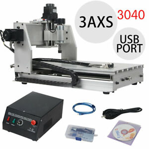 3040 3axis Milling Machine Spindle Usb Cnc Mill Router Kit Desktop Engraver Us