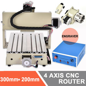 3axis 4axis 6040 3040 3020 Usb Cnc Router Engraver Vfd Spindle Milling Machine