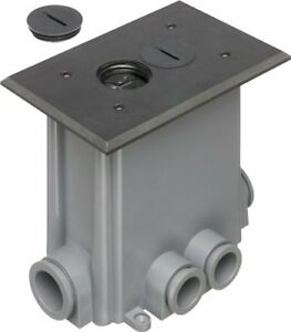 Arlington Flbc101bl 1 Floor Electrical Box Kit With Outlet And Threaded Plugs