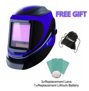 Pro Solar Darkening Welding Helmet Arc Mig Safety Protective Mask With Bag