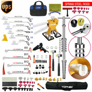 Pdr Tools Paintless Hail Push Rods Dent Repair Auto Body Damage Ding Removal Kit