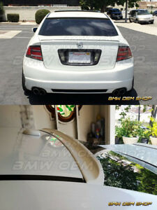 Unpainted Aggressive Design 04 08 For Acura Tl 3rd K Style Roof Spoiler