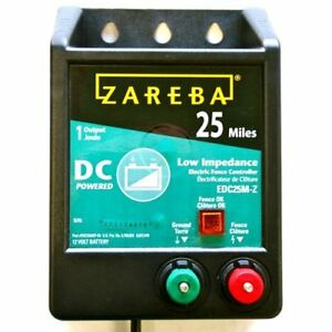 Zareba Edc25m z 25 mile Battery Operated Low Impedance Fence Charger