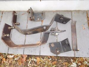 1964 Cadillac Front Bumper Brackets And Nice Bolts 5 Pieces Straight Clean