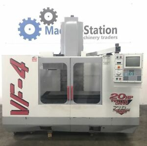 Haas Vf 4 Vertical Machining Center 4th Axis Tsc Gear Head 20hp Vf4 Cnc Mill 3