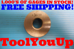 Shop Made 1 1 16 12 Thread Ring Gage 1 0625 Inspection Machinist Tooling Quality