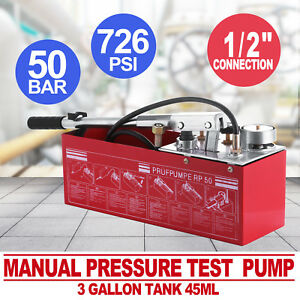 Hydraulic Manual Pressure Test Pump 726psi Reliable Seller Excellent Brand New