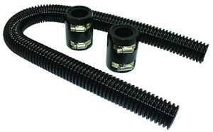 36 Black Stainless Flexible Radiator Hose Kit W Billet Clamp Covers Chevy Ford