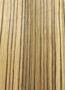 Zebrawood Composite Wood Veneer 48 X 24 On Paper Backer a Grade 1 40th