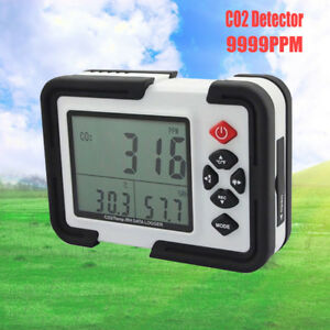 Lcd Co2 Carbon Dioxide Data Logger Air Temperature Humidity Meter Monitor Toolus