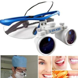 Dental Surgical Medical Binocular Loupes 2 5x420mm Led Head Light Lamp Usa