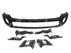 Fits 2011 2016 F250 F350 Front Bumper Black Face Bar Plate Inner Out Bracket 7pc
