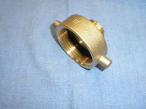 Fire Hydrant Adapter 1 1 2 Nst Female By 3 4 Male Ght Brass Dixon Ha1576