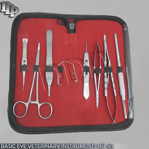 8 Pc O r Grade Basic Eye Veterinary Micro Surgical Ophthalmic Instruments Kit 2
