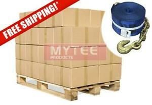Kinedyne 240 Pack Full Pallet 4 x30 Winch Straps With Chain Anchor Wll 5400