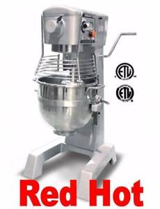 Fma Omcan 20442 30 Qt Commercial Planetary Bakery Dough Food Mixer Gear Driven