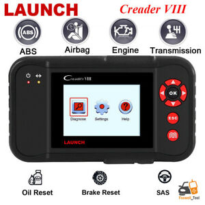 Launch Creader Viii Obd2 Eobd Diagnostic Scanner Abs Srs Transmisson Tool Crp129