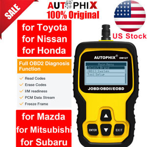 Autophix Om127 Obd2 Code Reader Engine Diagnostic Tool For Toyota Honda Nissan
